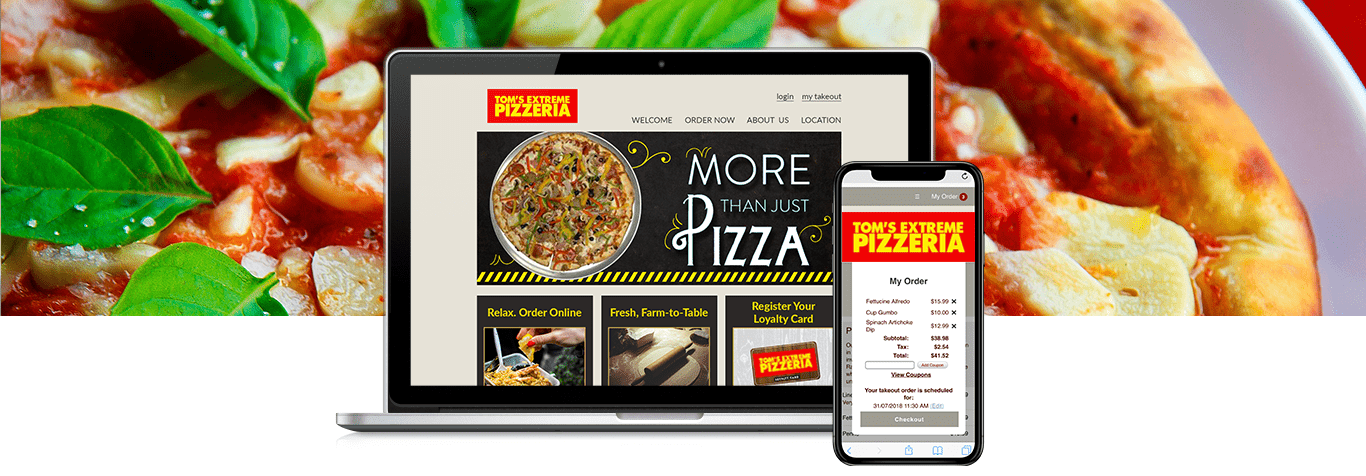 ordercounter, point of sale, pizza pos, pizzeria, tom's extreme, case study, online ordering