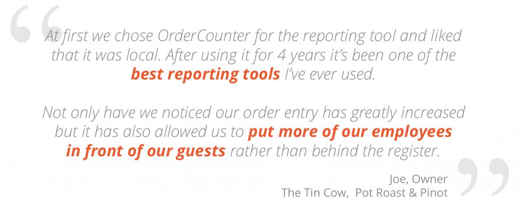 Tin Cow, Pensacola, FL POS, OrderCounter Cloud Hybrid POS